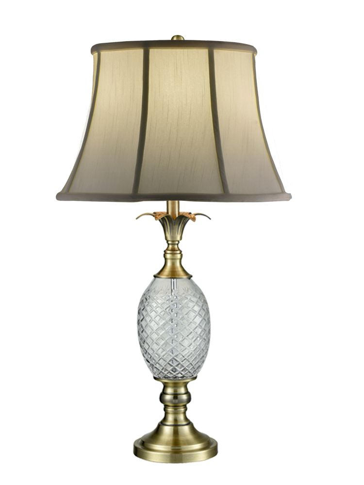 Dale Tiffany Sgt17041 Brass Pineapple 24 Lead Crystal