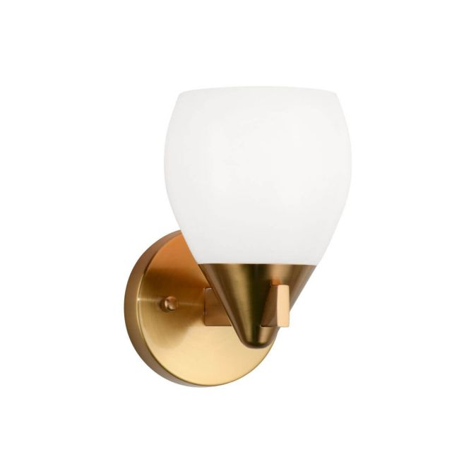 Matteo Lighting Reya 1 Light 8 inch Tall Wall Sconce in Aged Gold Brass W74001AG