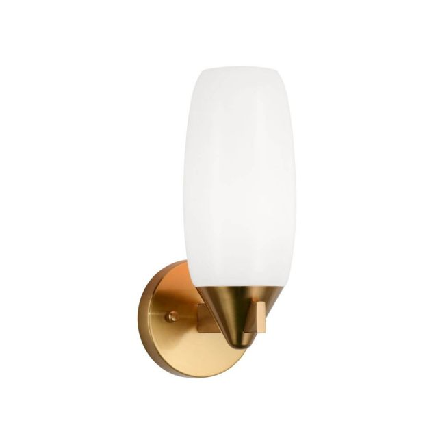 Matteo Lighting Reya 1 Light 12 inch Tall Wall Sconce in Aged Gold Brass W74011AG