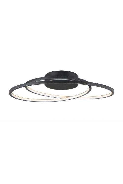 ET2 lighting Cycle 1 Light 25 Inch LED Flush Mount in Black E21322-BK