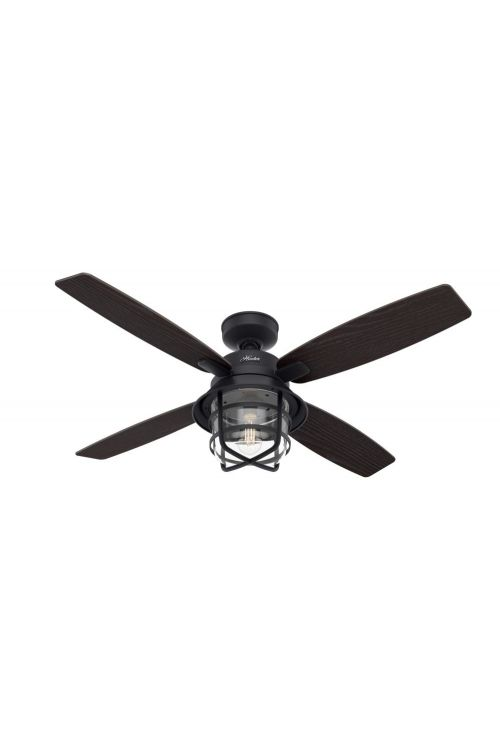 Hunter Port Royale 52 inch 4 Blade LED Outdoor Ceiling Fan in Natural Iron 50391