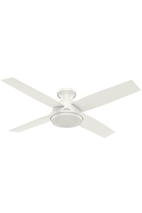 Hunter Dempsey 52 Inch Ceiling Fan In Fresh White With 4 Fresh White Blade - Remote Included - 59248