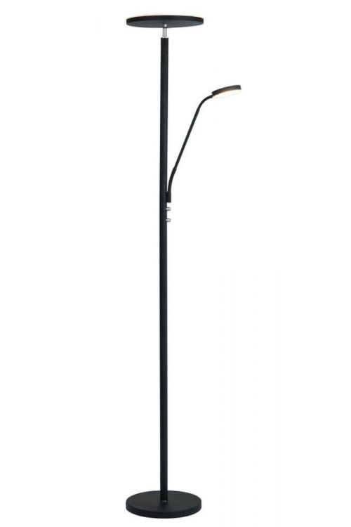 Lite Source Monet 2 Light Led Torchiere Reading Combo Lamp in Black - LS-83353BLK