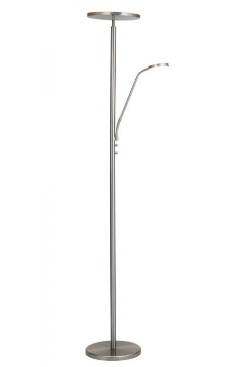 Lite Source Monet 2 Light Led Torchiere Reading Combo Lamp in Brushed Nickel - LS-83353BN
