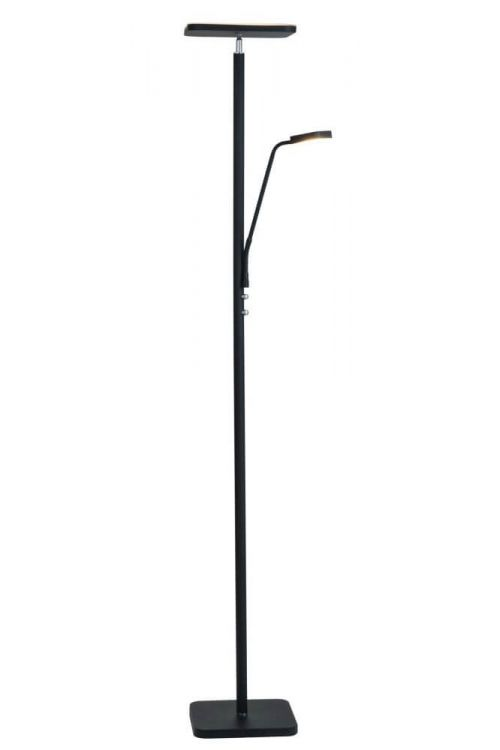 Lite Source Hector 2 Light Led Torchiere Reading Combo Lamp in Black - LS-83356BLK