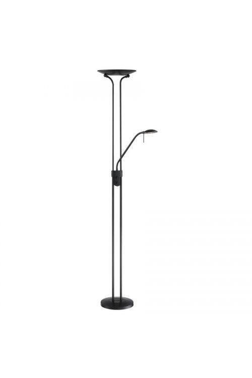 Lite Source Duality Iv 1+1 Light LED Torchiere Reading Combo Lamp in Black - LS-83363BLK