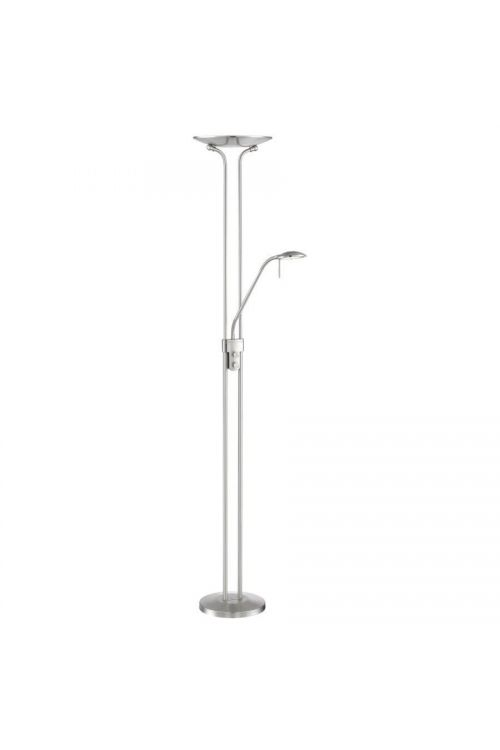 Lite Source Duality Iv 1+1 Light LED Torchiere Reading Combo Lamp in Brushed Nickel - LS-83363BN