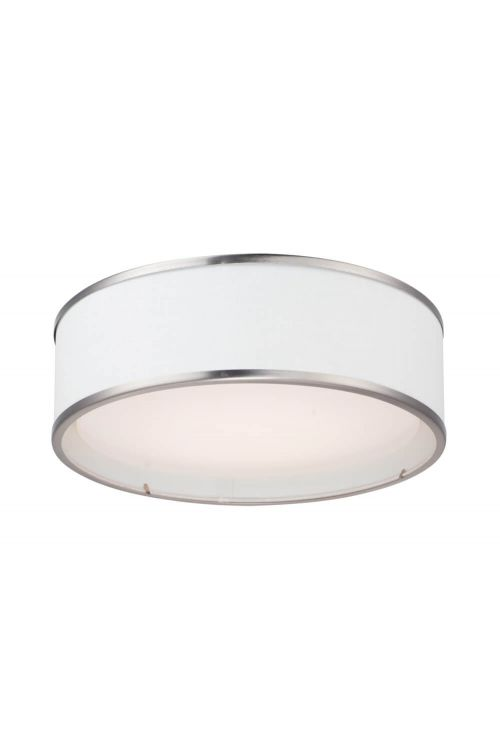 Maxim Lighting Prime 16 inch wide LED Flushmount in Satin Nickel - 10221WLSN