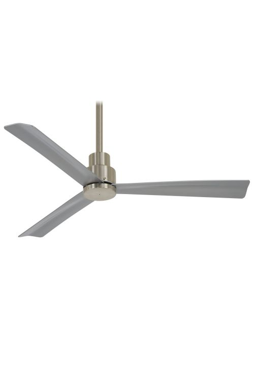 Minka Aire Simple 44 Inch WiFi Capable Outdoor Ceiling Fan With 3 Silver Blade - F786
