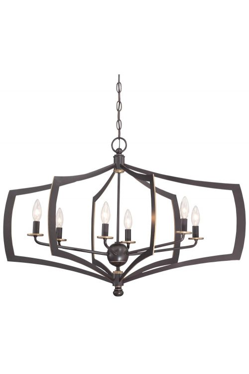 Minka Lavery Middletown 6 Light 26 Inch Chandelier In Downton Bronze With Gold Highlights 4376-579