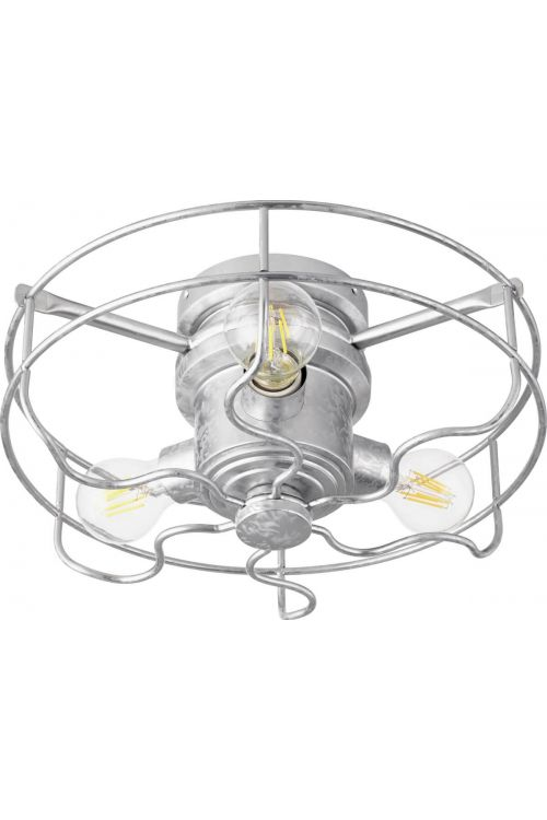 Quorum International Windmill 3 Light LED Cage Light Kit in Galvanized 1905-9
