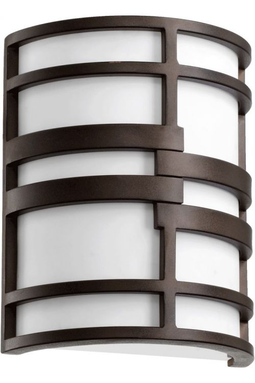 Quorum International Solo 2 Light 10 Inch Tall Wall Sconce In Oiled Bronze With White Shade 5202-86