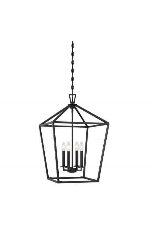 Savoy House Townsend 4 Light 17 Inch Foyer Pendant in Matte Black 3-321-4-89