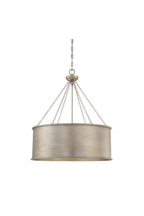 Savoy House Rochester 6 Light 25 Inch Pendant In Silver Patina 7-488-6-53