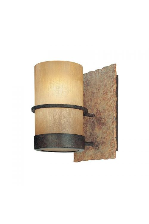 Troy Lighting Bamboo 1 Light Bath Sconce In Bamboo Bronze With Bamboo Glass - B1841BB