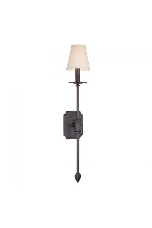 Troy Lighting 1 Light Wall Sconce In French Iron With Hardback Glass - B2481FI