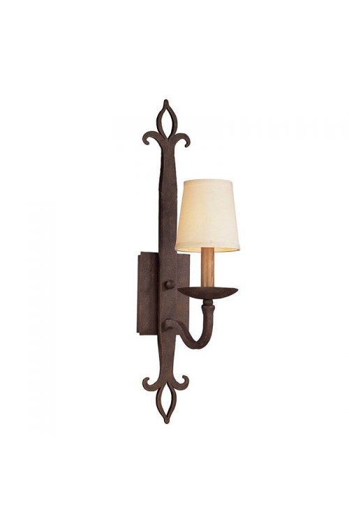 Troy Lighting One Light Wall Sconce In Burnt Sienna With Hardback Linen Glass - B2711