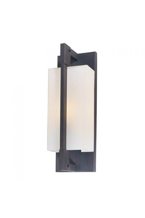 Troy Lighting 13 Inch Tall Incandescent Wall Sconce In Forged Iron With Matte Opal Glass - B4017FI