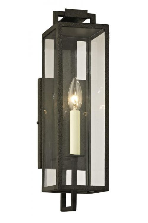 Troy Lighting Beckham 1 Light Outdoor Wall Lantern In Forged Iron - B6381