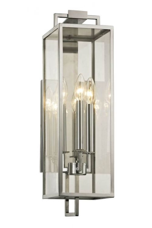 Troy Lighting Beckham 3 Light Outdoor Wall Lantern In Stainless - B6532