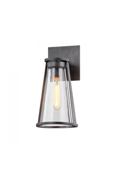 Troy Lighting Prospect 1 Light Outdoor Wall Scone in Graphite with Clear Glass B7611
