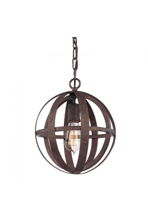 Troy Lighting One Light Pendant In Weathered Iron - F2511WI