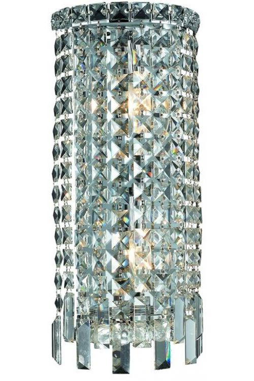 Crystallo Lighting 2 light Chrome Wall Sconce Clear Crystal