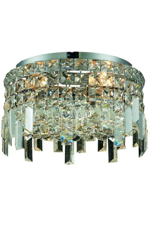 Crystallo Lighting 4 light Chrome Flush Mount Clear Crystal