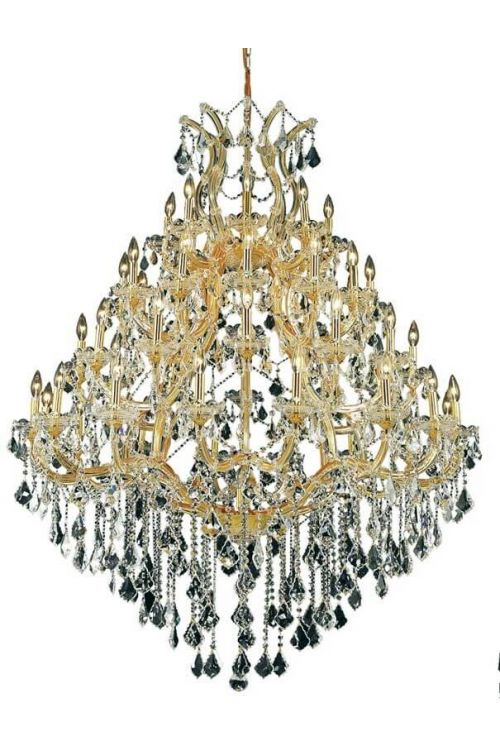 Crystallo Lighting 49 light Maria Theresa Gold Chandelier Clear Crystal