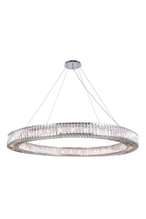 Crystallo Lighting 36 light Chrome Chandelier Clear Crystal