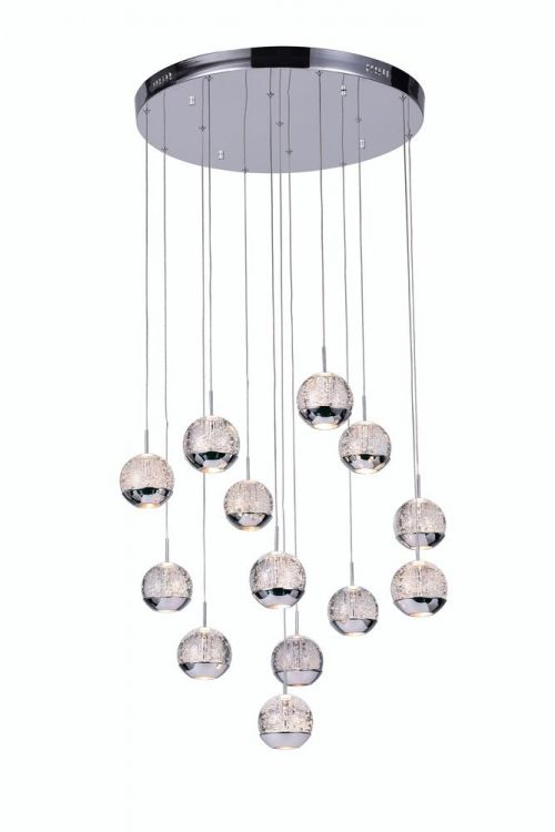 Crystallo Lighting 24 inch 13 Light Round Pendant In Chrome