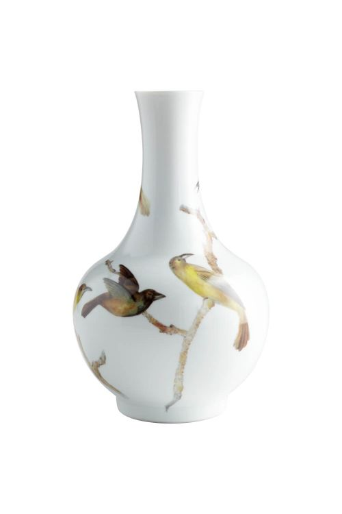 Cyan Design Large Aviary Vase In White - 06471