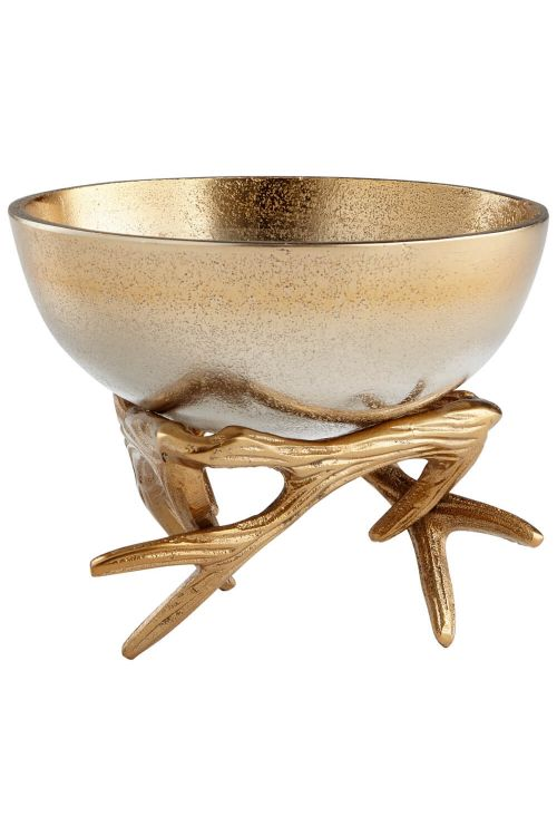 Cyan Design Small Antler Anchored Bowl In Gold - 08131