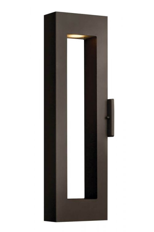 Hinkley Atlantis 2 Light Medium Outdoor Wall Sconce In Bronze With Etched Glass Lens - 1644BZ
