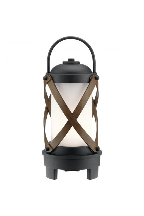 Kichler Berryhill 1 Light LED Outdoor Post Lantern in Textured Black with Satin Etched Cased Opal Glass 49239BKTLED