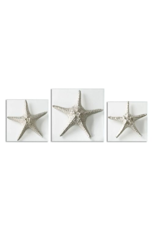 Uttermost Silver Starfish Wall Art Set of 3 - 01129