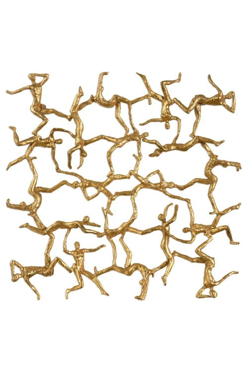 Uttermost Golden Gymnasts Wall Art - 04037