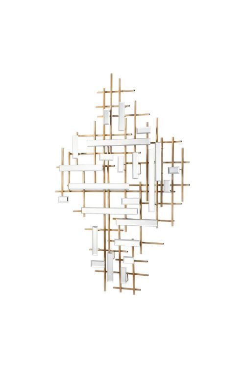 Uttermost Apollo Gold And Mirrored Wall Art - 04128