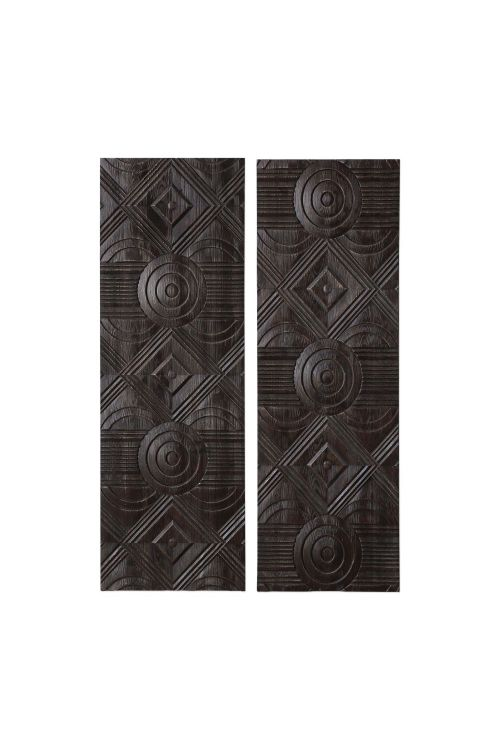 Uttermost Asuka Carved Wood Wall Panels Set of 2 - 04199
