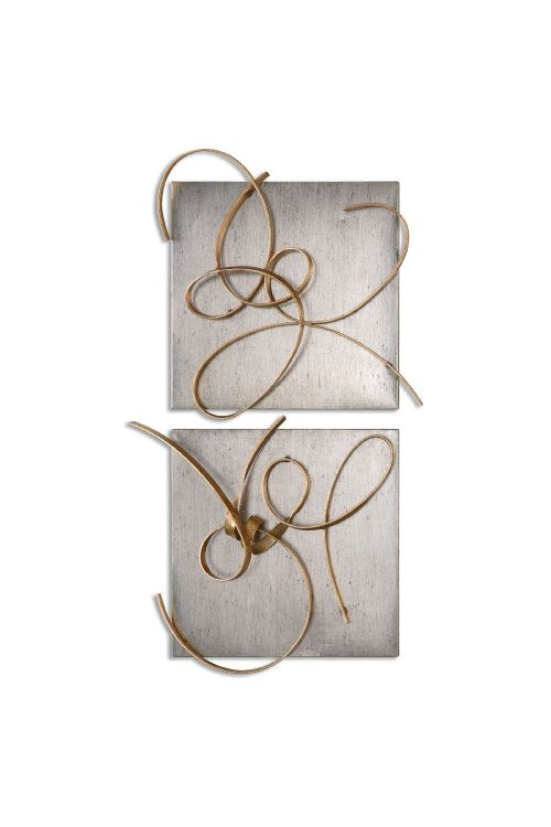Uttermost Harmony Metal Wall Art Set of 2 In Gold Leaf - 07071