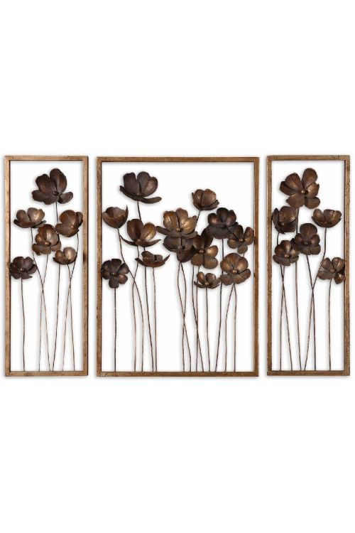 Uttermost Metal Tulips Wall Art Set of 3 - 12785