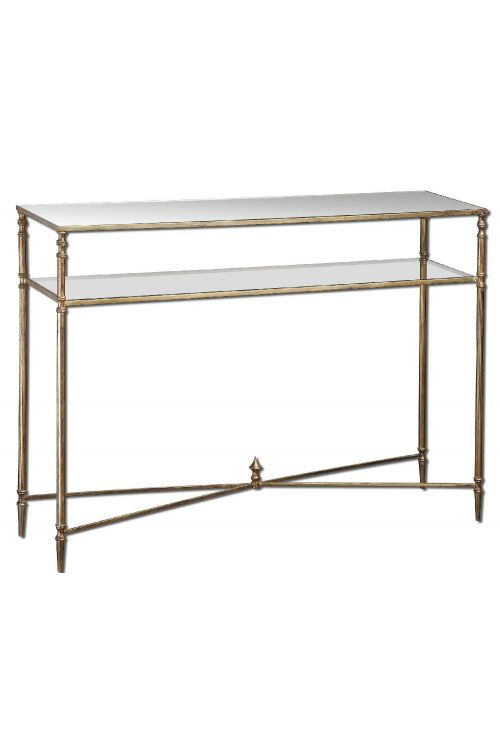 Uttermost Henzler Mirrored Glass Console Table - 24278