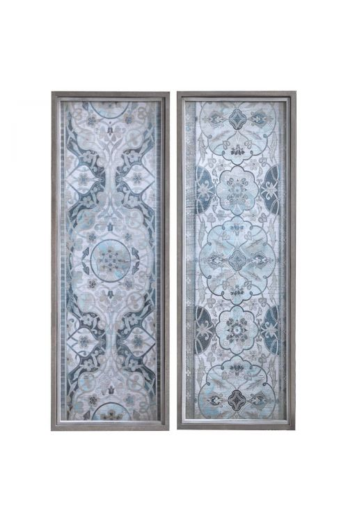 Uttermost Vintage Persian Panels Framed Prints Set of 2 51113